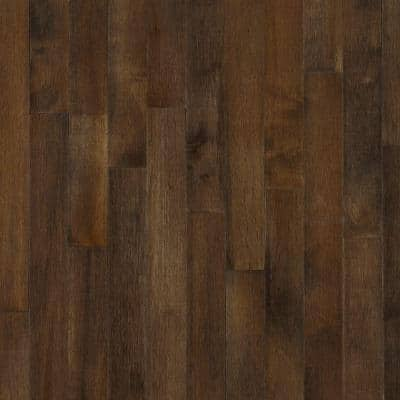 Maple Cappuccino 3/4 in. Thick x 2-1/4 in. Wide x Varying Length Solid Hardwood Flooring (20 sq. ft. / case)