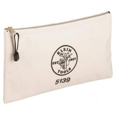 12-1/2 in. Canvas Zipper Bag
