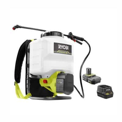 ONE+ 18V Lithium-Ion Cordless 4 Gal. Battery Backpack Chemical Sprayer - 2.0 Ah Battery and Charger Included
