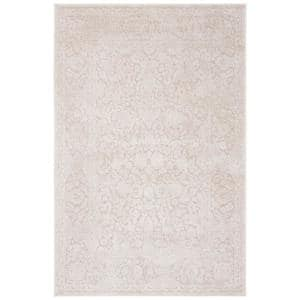 Reflection Cream/Ivory 8 ft. x 10 ft. Floral Distressed Area Rug
