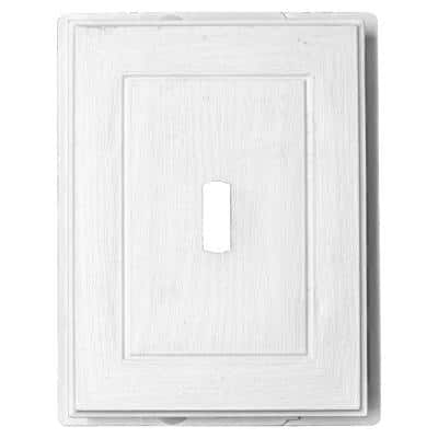 5.94 in. x 7.56 in. White Polypropylene Mini Mounting Block for Siding