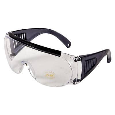 Shooting & Safety Fit Over Glasses for Use with Prescription Eyeglasses, Clear Lenses, Wrap Around Frame