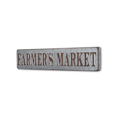 Farmers Market Horizontal Galvanized Wall Sign