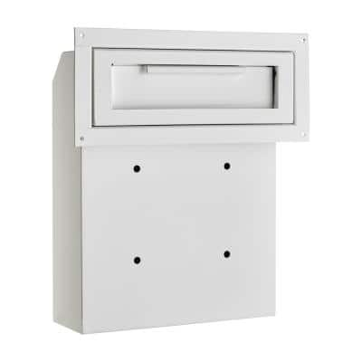 White Through-The-Door Safe Locking Drop Box