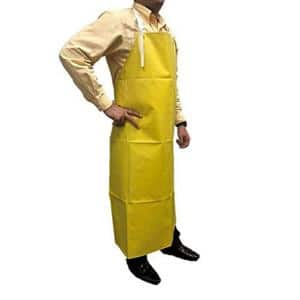 Yellow Heavy Duty Nitrile Industrial Bib Apron Chemical and Oil Resistant