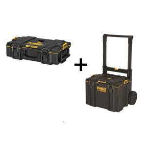 TOUGHSYSTEM 2.0 22 in. Small Tool Box with Bonus 24 in. Mobile Tool Box