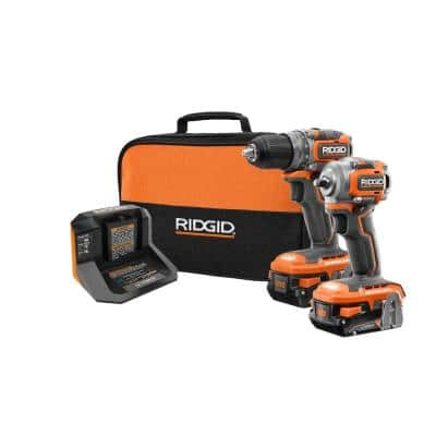 18V SubCompact Li-Ion Brushless 1/2 in. Drill Kit with 3/8 in. Impact Wrench, (2) 2.0 Ah Battery, Charger, and Bag