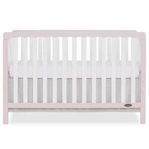 Ridgefield Brush Pink White 5-in-1 Convertible Crib