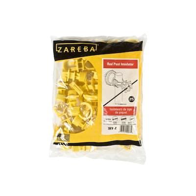 Yellow Round Post Insulator (25 Per Bag)