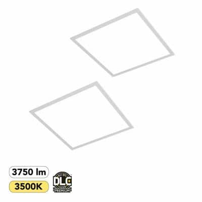2 ft. x 2 ft. 250-Watt Equivalent White Integrated LED Backlit Troffer, 3750 Lumens, 3500K Warm White (2-Pack)