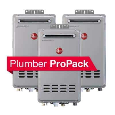 Performance Plus 8.4 GPM Natural Gas Outdoor Tankless Water Heater Plumber ProPack Bundle