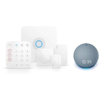 Wireless Alarm Home Security Kit (5-Piece) (2nd Gen) with Echo Dot- Twilight Blue (4th Gen)
