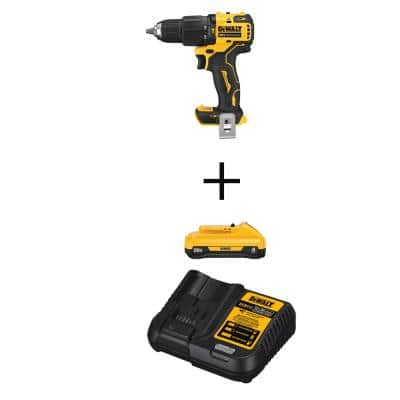 ATOMIC 20-Volt MAX Cordless Brushless Compact 1/2 in. Hammer Drill, (1) 20-Volt 4.0Ah Battery & Charger