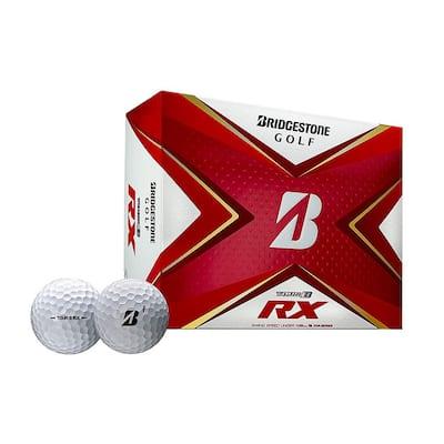 2020 Tour B RX Reactive Urethane Distance White Golf Balls, 1 Dozen