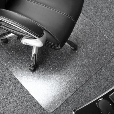 Ultimat Polycarbonate Rectangular Chair Mat for Carpets over 1/2 in. - 35 x 47 in.