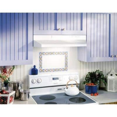 F40000 Series 30 in. Convertible Under Cabinet Range Hood with Light in White
