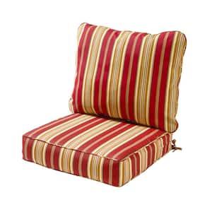 Roma Stripe 2-Piece Deep Seating Outdoor Lounge Chair Cushion Set