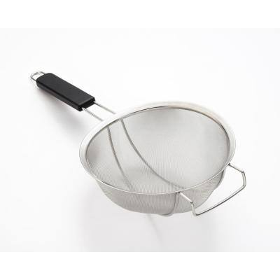 11 in. Stainless Steel Reinforced Jumbo Strainer with Plastic Handle