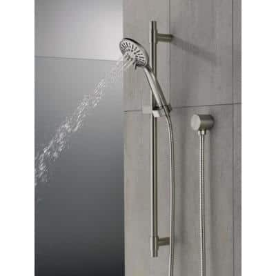 4-Spray 3.9 in. Single Wall Mount Handheld Shower Head in Stainless