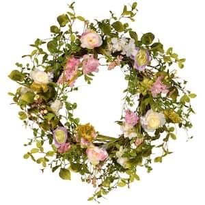 24 in. Decorative Spring Wreath