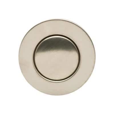 """Bathroom Pop-Up Drain with Ball Rod, Gray ABS Body w/ Overflow, 1.6-2"""" Sink Hole, Brushed Nickel"""