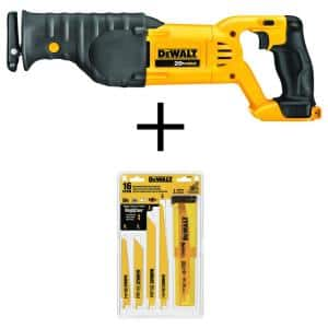 20-Volt MAX Cordless Reciprocating Saw with Bi-Metal Reciprocating Saw Blade Set (16-Piece)