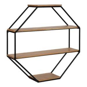 Lintz 6 in. x 24 in. x 24 in. Rustic Brown Wood Floating Decorative Wall Shelf Without Brackets