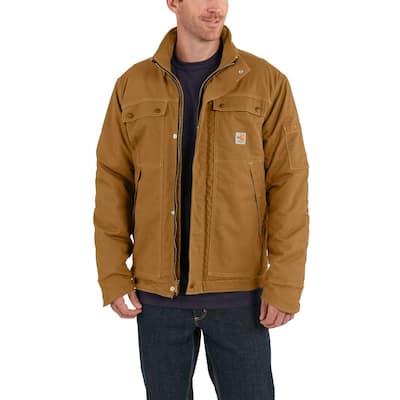 Men's Large Tall Brown Cotton/Nylon FR Full Swing Quick Duck Coat