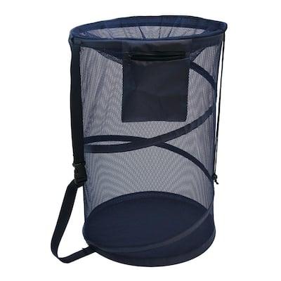 Navy Shoulder Strap Collapsible Mesh Bongo Bag