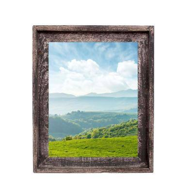 Rustic Farmhouse Signature Series 8.5 in. x 11 in. Smoky Black Reclaimed Picture Frame