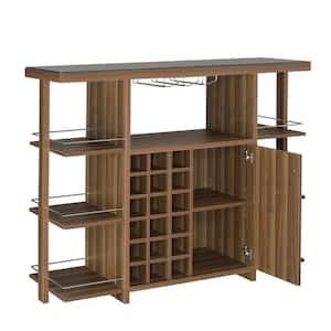 Sturdy Modern Bar Unit with Wine Bottle Storage 15.5'' L x 54'' W x 43'' H