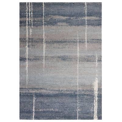 Bernadette Blue 5 ft. x 7 ft. Rectangle Abstract Polypropylene Indoor/Outdoor Area Rug