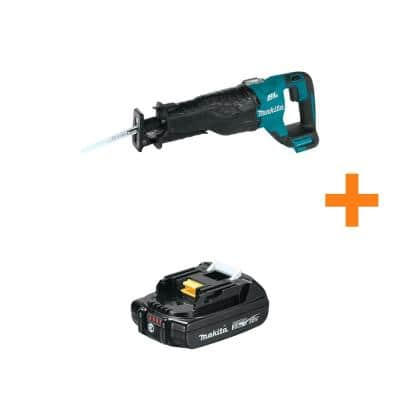 18-Volt LXT Lithium-Ion Brushless Cordless Recipro Saw (Tool Only) with Bonus 18V LXT Lithium-Ion Compact 2.0Ah Battery