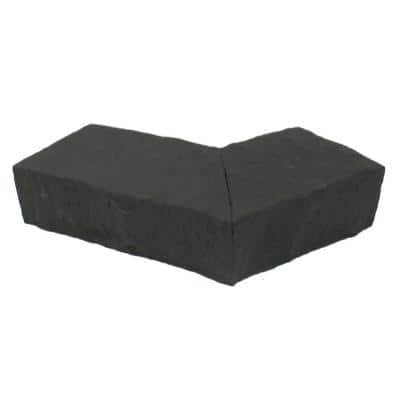 Sandstone 6.25 in. x 4.25 in. Charcoal Faux Stone Ledger Outside Corner (2-Pack)