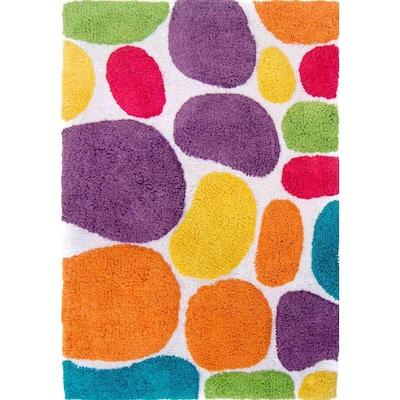Pebbles Brights Rainbow Multi 2 ft. x 3 ft. Indoor Bath Rug