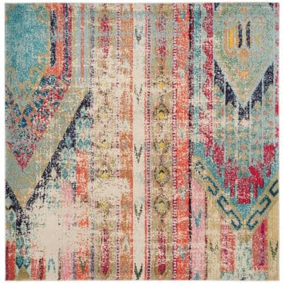 Monaco Multi 5 ft. x 5 ft. Square Area Rug