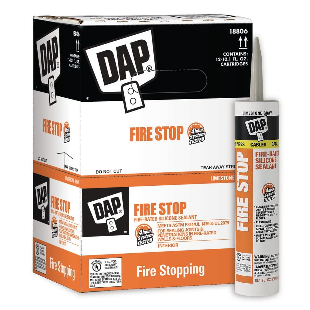DAP Fire Stop 10.1 oz. Fire-Rated Silicone Sealant (12-Pack)