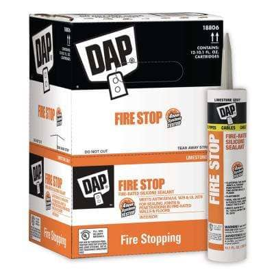 Fire Stop 10.1 oz. Fire-Rated Silicone Sealant (12-Pack)