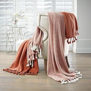 Monacco Brick Cotton Throw Blanket (Set of 2)