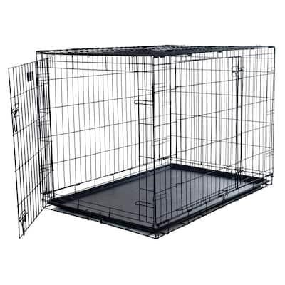 Medium 2-Door Foldable Dog Crate Cage