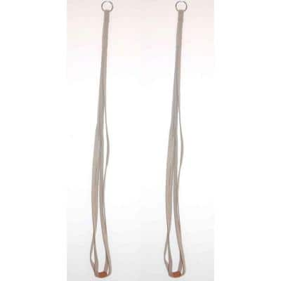 36 in. Tan Fabric Plant Hangers (2-Pack)