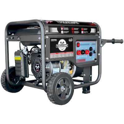120 Amp DC Multi Process MMA Stick Welder Generator w/ 7 HP 2,200-Watt Inverter Engine Driven Welder and Wheel Kit