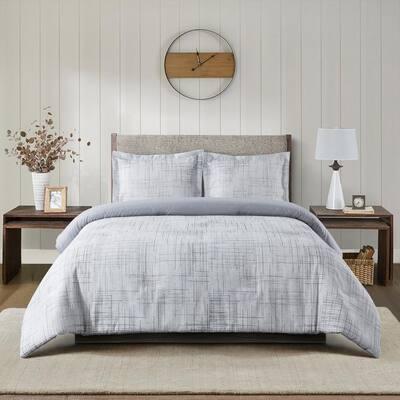 Dakota 4-Piece Ivory Polyester King Comforter Set