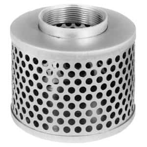 4 in. Steel Round Hole Strainer for Lay Flat, Discharge, Backwash and Suction Hoses