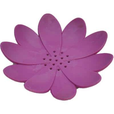 Bath Soap Dish Cup Water Lily Solid Purple