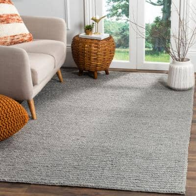 Natura Steel 9 ft. x 12 ft. Solid Area Rug