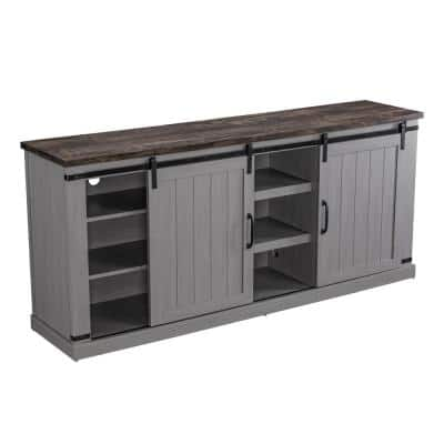 68 in. Gray TV Stand for TVs Upto 70 in.