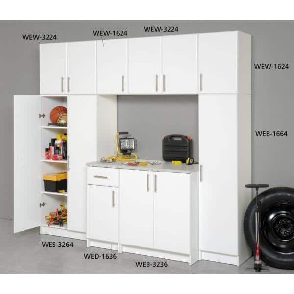 Reviews For Prepac Elite 32 In Wood Laminate Cabinet In White Wew 3224 The Home Depot