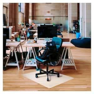 Ecotex® Polypropylene Rectangular Anti-Slip Foldable Chair Mat for Hard Floors - 46'' x 57''