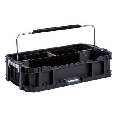 Black 5-Compartment Connect System Tool Caddy Small Parts Organizer